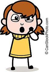 Lovable - Retro Cartoon Girl Teen Vector Illustration