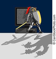 lovag, oltalmaz, számítógép
