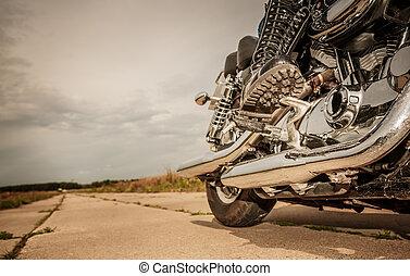 lovaglás, bringás, motorkerékpár, leány