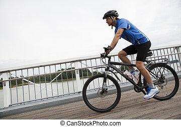 lovaglás, hegy bicikli