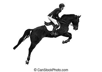 lovaglási, sport, lovas
