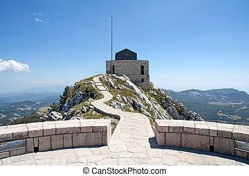 The mausoleum of Lovchen in Montenegro