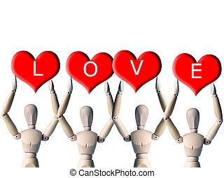 Love 001 - Lay figures spell love