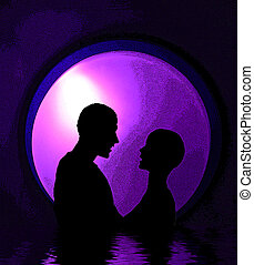 Love 2 - This is a computer generated romantic image.
