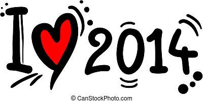 Love 2014 - Creative design of love 2014