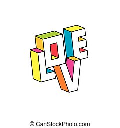 Love 3D illustration vector