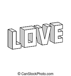 Love 3D illustration vector