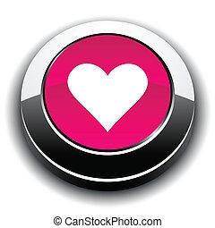 Love 3d round button.