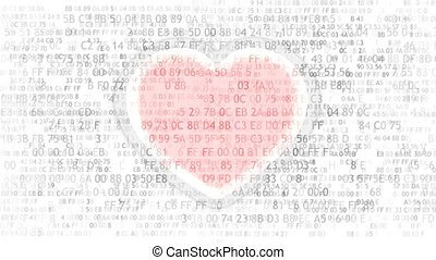 Love and computer programming. Electronic heart - Electronic...