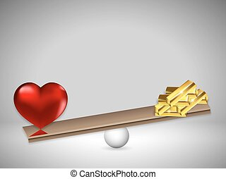 Love and gold on the scales