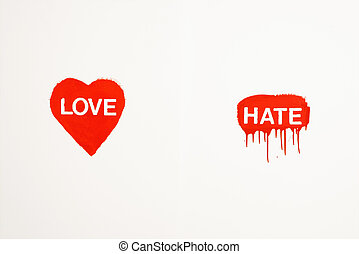Love and hate.