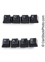 love and hate words