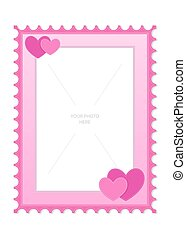 Love And Heart Theme Photo Frame Template