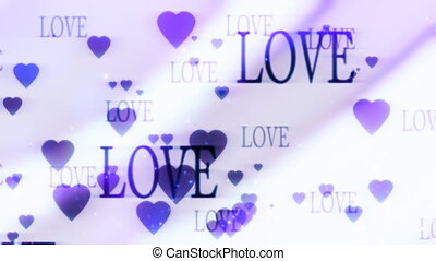 Love and Hearts Looping Background