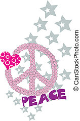 love and peace fancy graphic