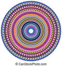 Love and Peace Mandala - Circular pattern background