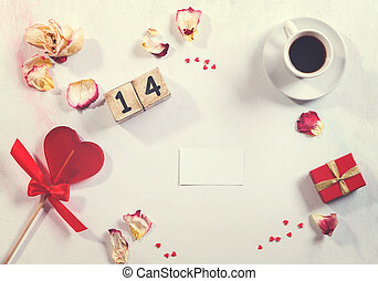 Love and Valentines day concept. background, frame, top...
