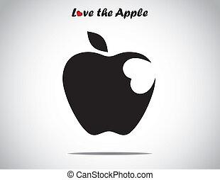 love apple concept silhouette art