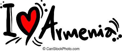 Love armenia - Creative design of love armenia