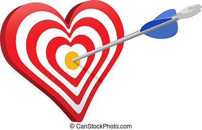Love arrow heart target valentine