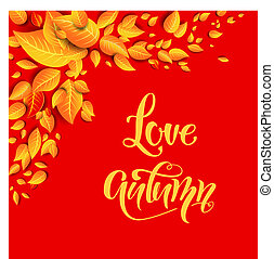 Love autumn card