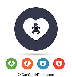 Love Baby infant icon. Toddler boy symbol.