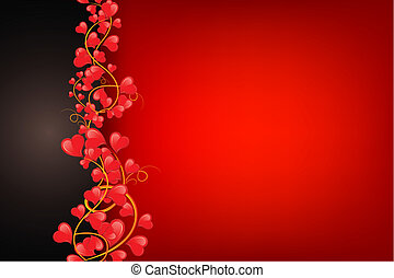 Love Background - illustration of swirl of heart on love...