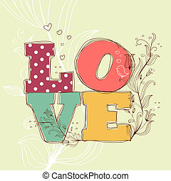 Love background, illustration