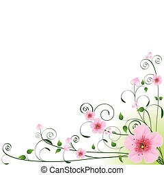 Love Background - Love hearts and flowers Floral