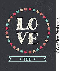 Love Background - Valentin's day card