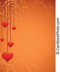Love Background. Vintage ornate vector frame