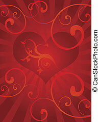 love background with heart - St.Valentine\\\'s day...