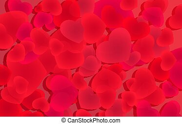 Love background with red heart