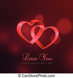 love background with two hearts connected with eachother
