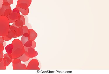 Love backgrounds with red hearts