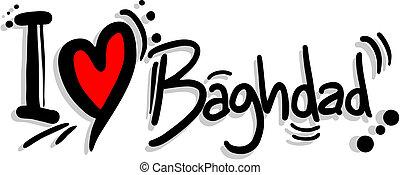 Creative design of love bagdad