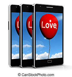Love Balloon Shows Fondness and Affectionate Feelings - Love...