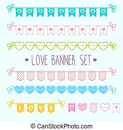 Love banner set