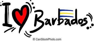 Creative design of love barbados