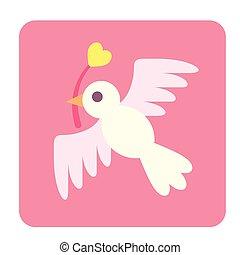 Love Bird Flat Icon