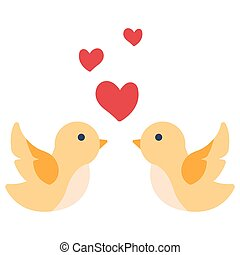 Love bird flat illustration