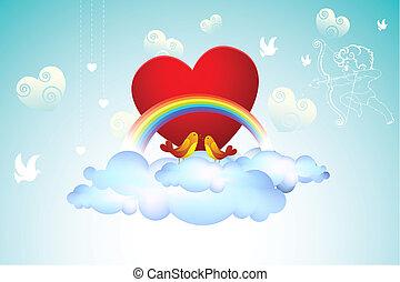 Love Birds on Cloud