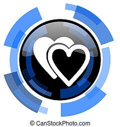love black blue glossy web icon