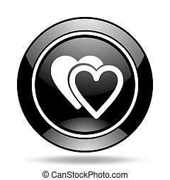 love black glossy icon