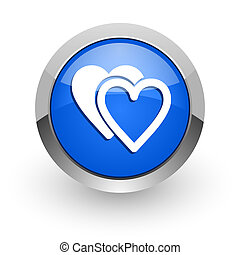 love blue glossy web icon