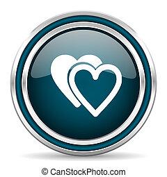love blue glossy web icon