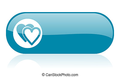 love blue web glossy icon