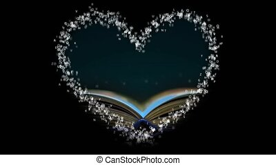 Love books education. Heart from letters. - Love books...