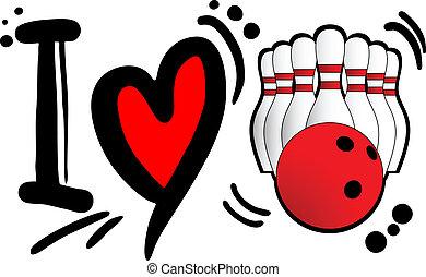 Love bowling - Creative designof love bowling