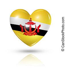 Love Brunei, heart flag icon